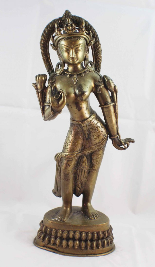 Asian Bronze Statue Of Buddha