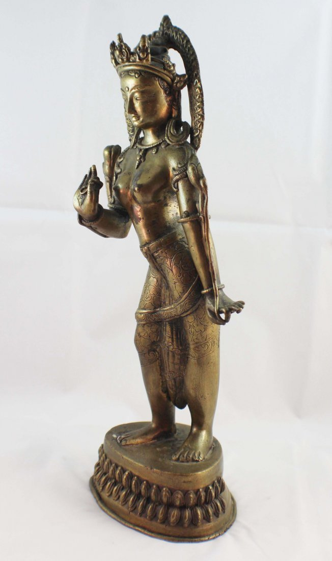 Asian Bronze Statue Of Buddha - 3