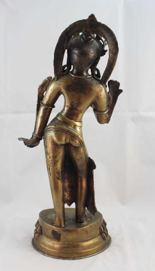 Asian Bronze Statue Of Buddha - 5