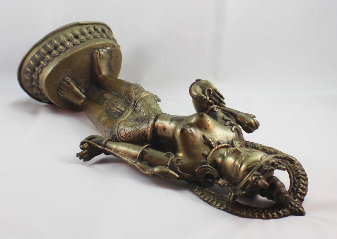 Asian Bronze Statue Of Buddha - 6