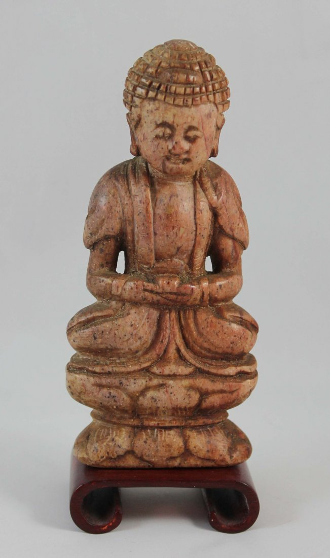 Chinese Carved Stone Statue Of Buddha
