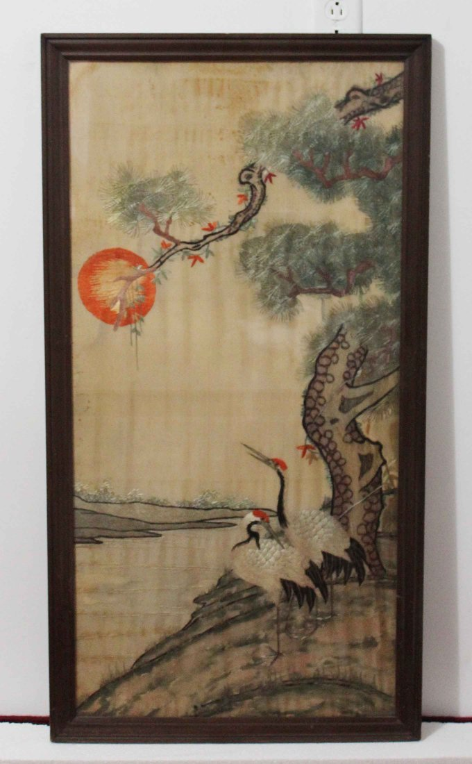 Chinese Silk Embroidery With Frame
