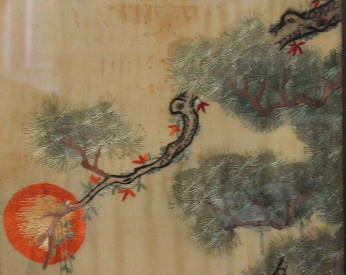 Chinese Silk Embroidery With Frame - 2