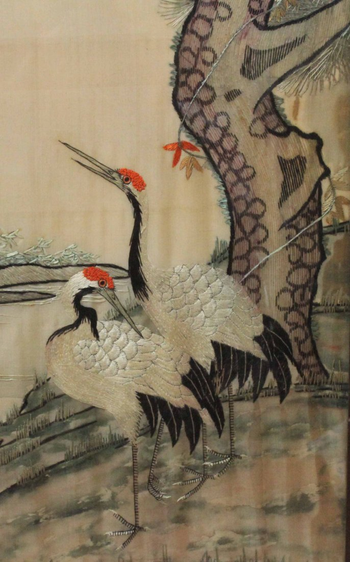 Chinese Silk Embroidery With Frame - 4