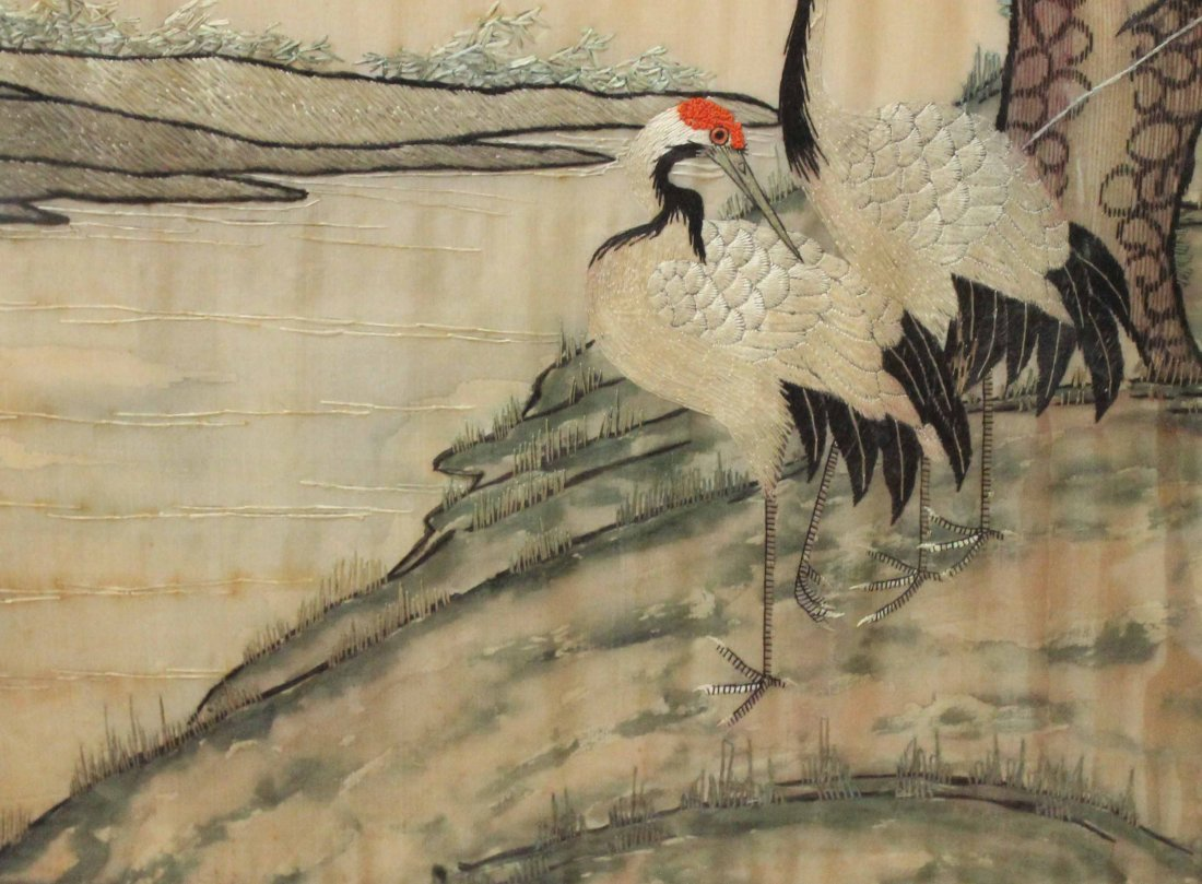 Chinese Silk Embroidery With Frame - 5