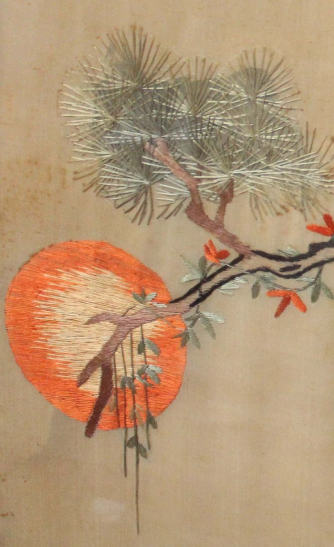 Chinese Silk Embroidery With Frame - 6