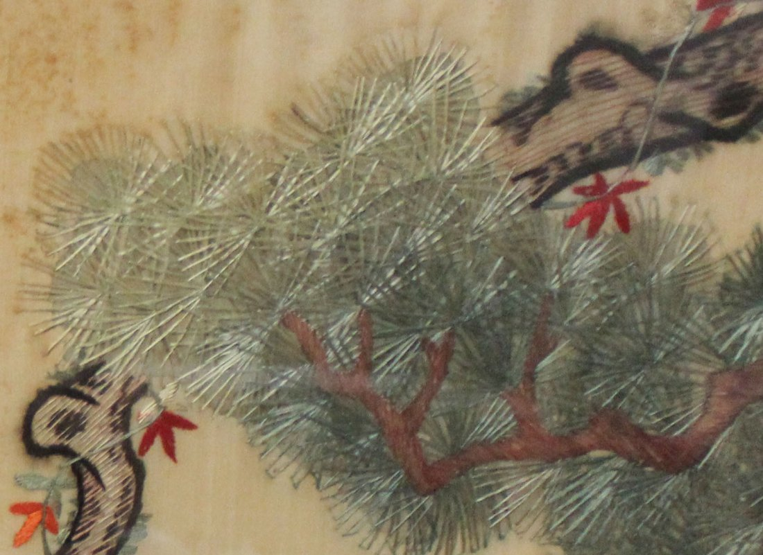 Chinese Silk Embroidery With Frame - 7