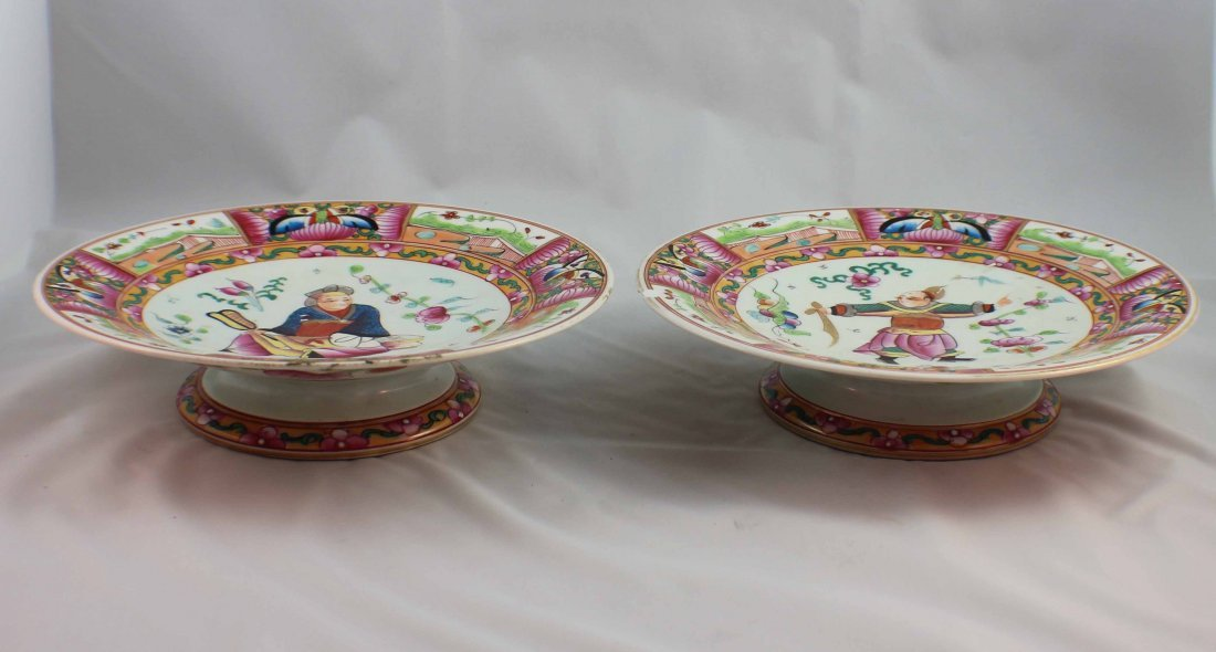 Pair Of Chinese Porcelain Plates - 5