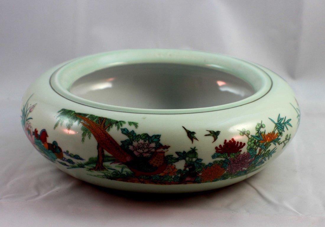 Chinese Porcelain Brush Washer Marked