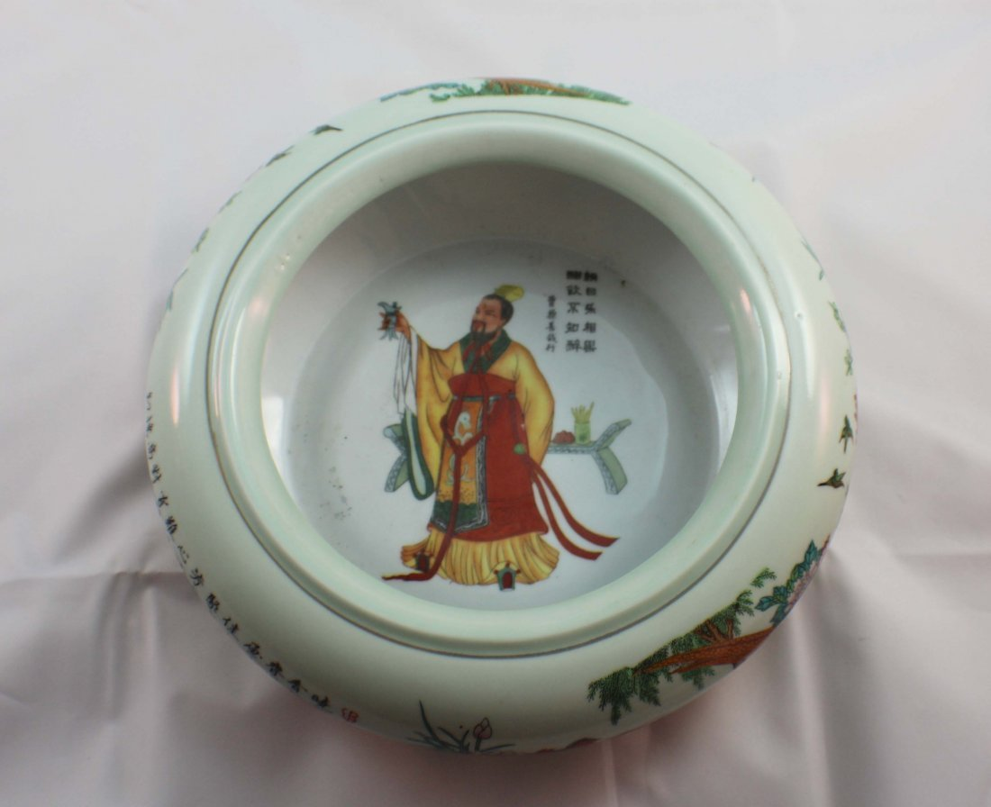 Chinese Porcelain Brush Washer Marked - 4