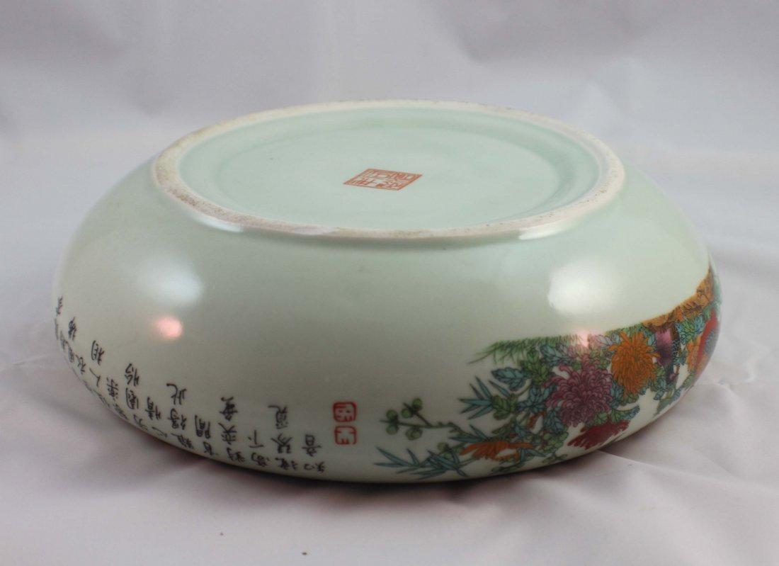 Chinese Porcelain Brush Washer Marked - 8