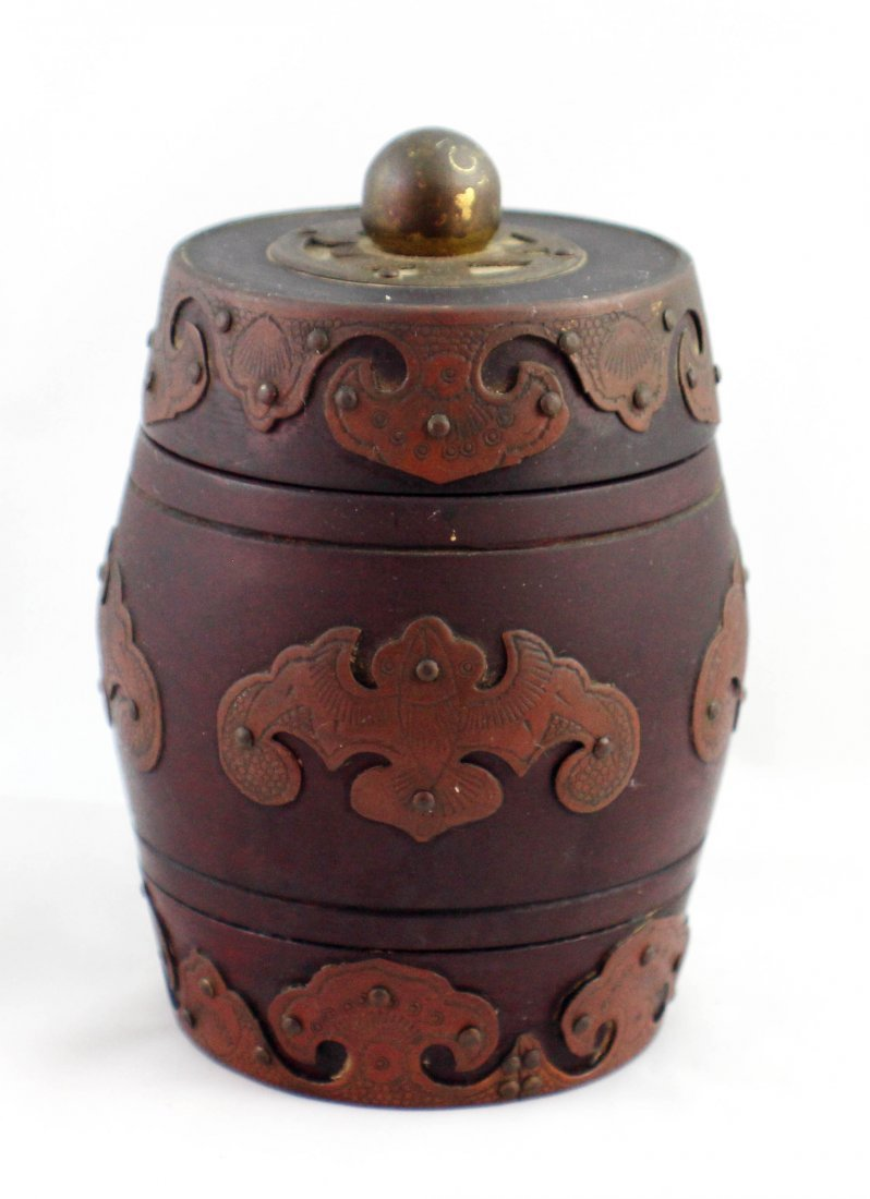 Chinese Carved Wood Tea Caddy
