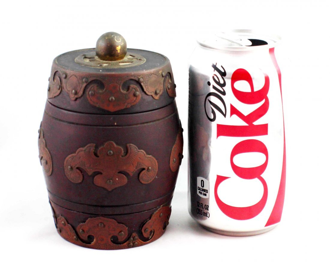 Chinese Carved Wood Tea Caddy - 2
