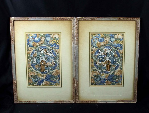 Pair of Chinese Embroidery