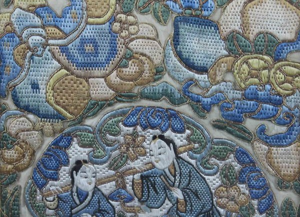 Pair of Chinese Embroidery - 8