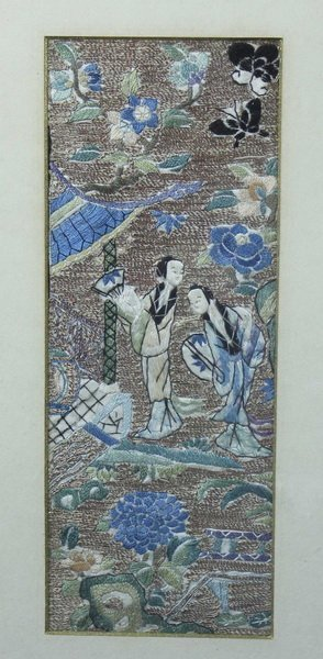 Pair of Chinese Embroidery - 2