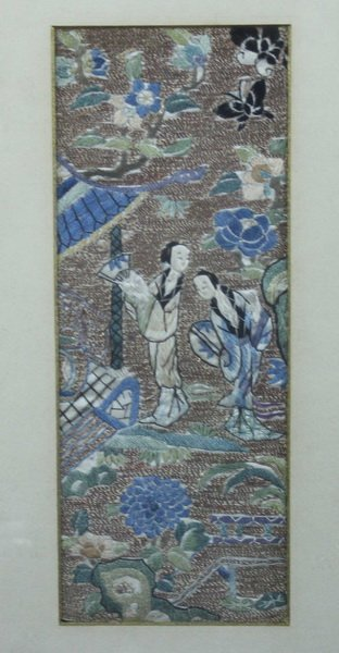 Pair of Chinese Embroidery - 3