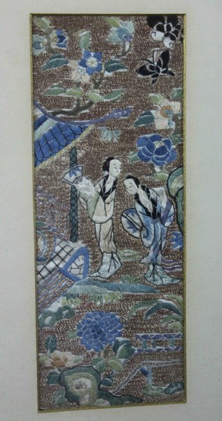 Pair of Chinese Embroidery - 6
