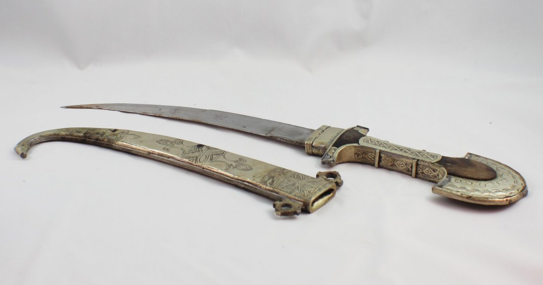 Asian Hand Made Silver Sword - 4