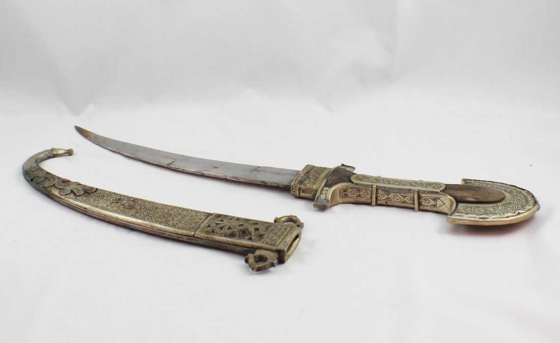 Asian Hand Made Silver Sword - 5