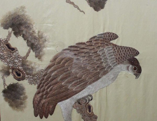Antique Large Chinese Embroidery - 4