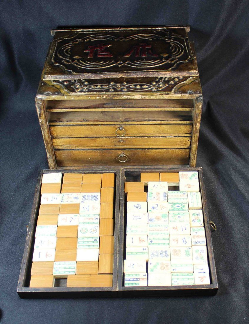 Chinese Mahjong With Case Total 144 pc - 4