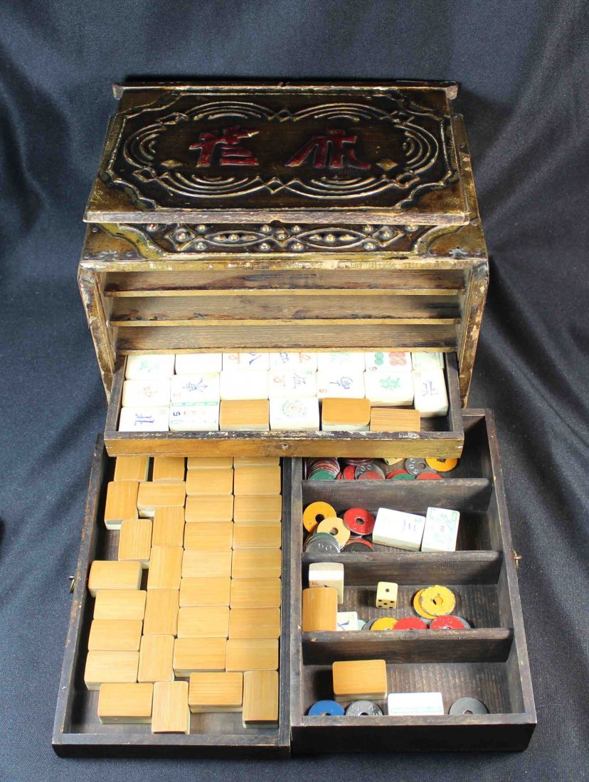 Chinese Mahjong With Case Total 144 pc - 5