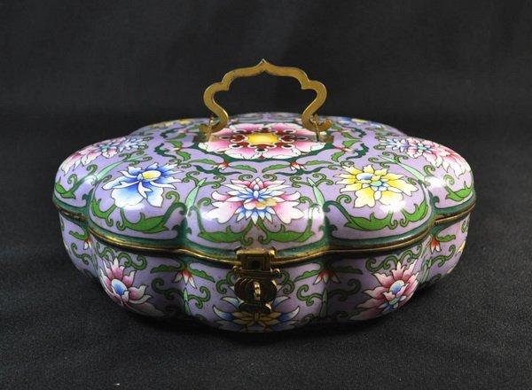 Chineses Cloisonne Enamel Box - 2
