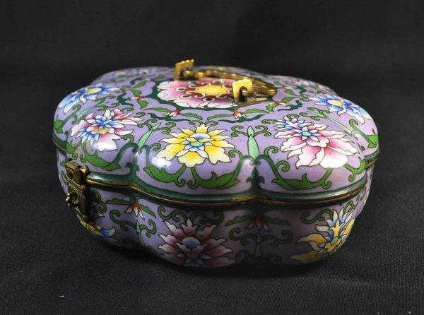 Chineses Cloisonne Enamel Box - 3