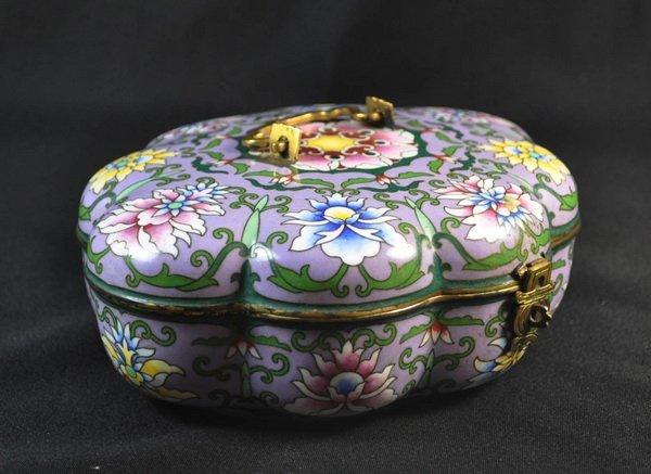 Chineses Cloisonne Enamel Box - 4