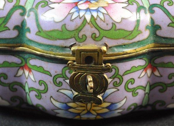 Chineses Cloisonne Enamel Box - 5