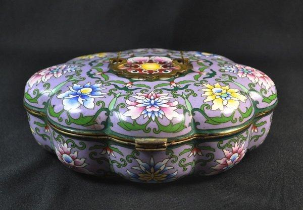 Chineses Cloisonne Enamel Box - 6