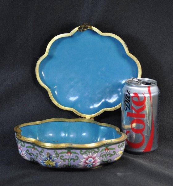 Chineses Cloisonne Enamel Box - 9