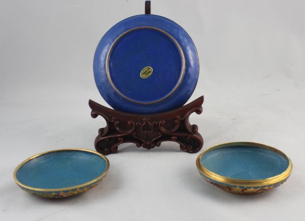 2 Chinese Cloisonne Plate & Box - 3