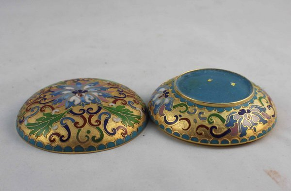 2 Chinese Cloisonne Plate & Box - 6