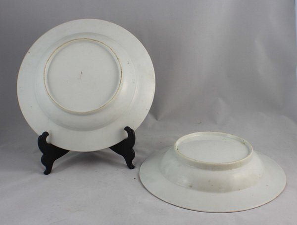 Pair Of Chineses Rose Medallion Porcelain Plates - 4