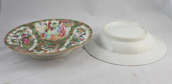Pair Of Chineses Rose Medallion Porcelain Plates - 5