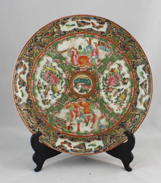 Chineses Rose Medallion Porcelain Plate