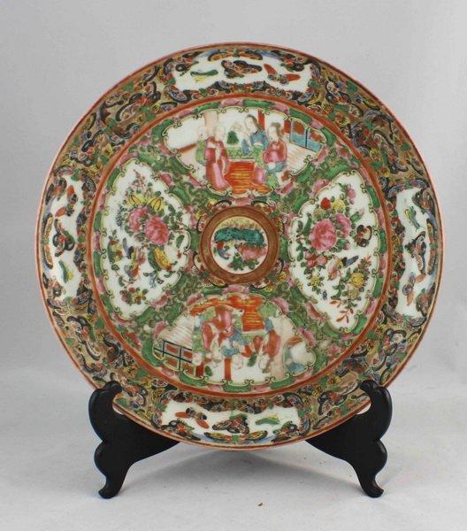 Chineses Rose Medallion Porcelain Plate