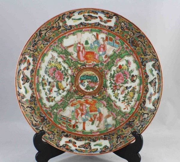 Chineses Rose Medallion Porcelain Plate - 3