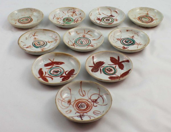 Group Of 10 Chineses Porcelain Saucers