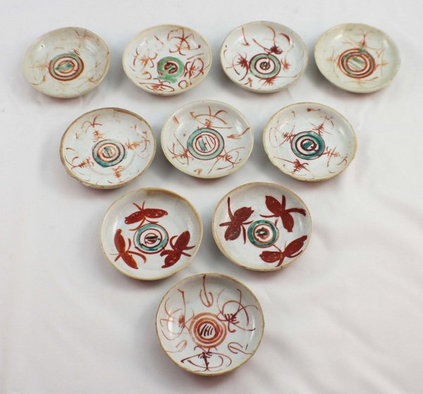 Group Of 10 Chineses Porcelain Saucers - 2