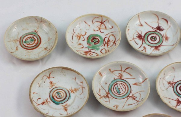 Group Of 10 Chineses Porcelain Saucers - 3