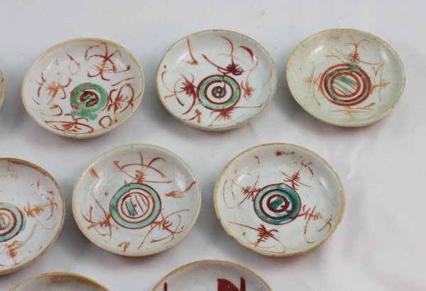 Group Of 10 Chineses Porcelain Saucers - 4