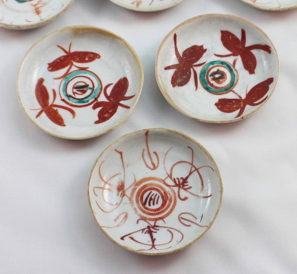 Group Of 10 Chineses Porcelain Saucers - 5