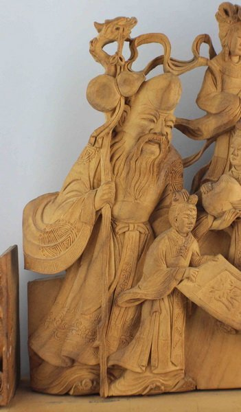 Chinese Carved Wood Statues - 3