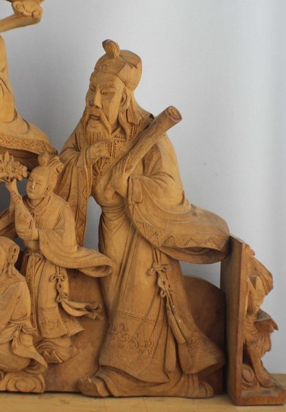 Chinese Carved Wood Statues - 5