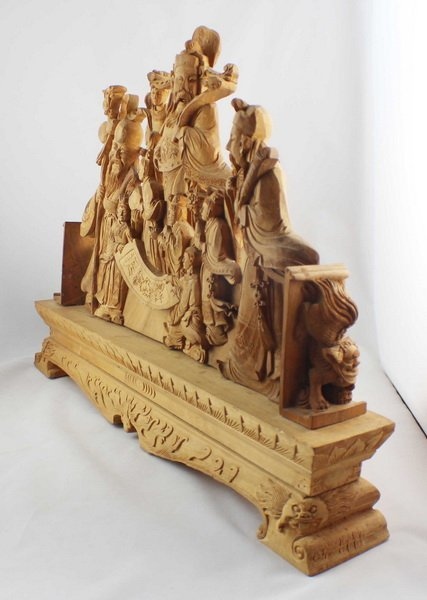 Chinese Carved Wood Statues - 7