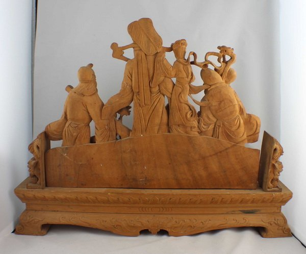 Chinese Carved Wood Statues - 8
