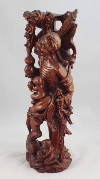 Chinese Carved Wood Statues Of Buddha - 6